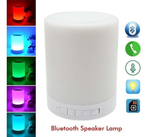 parlante lampara bluetooth cambia luz al tacto