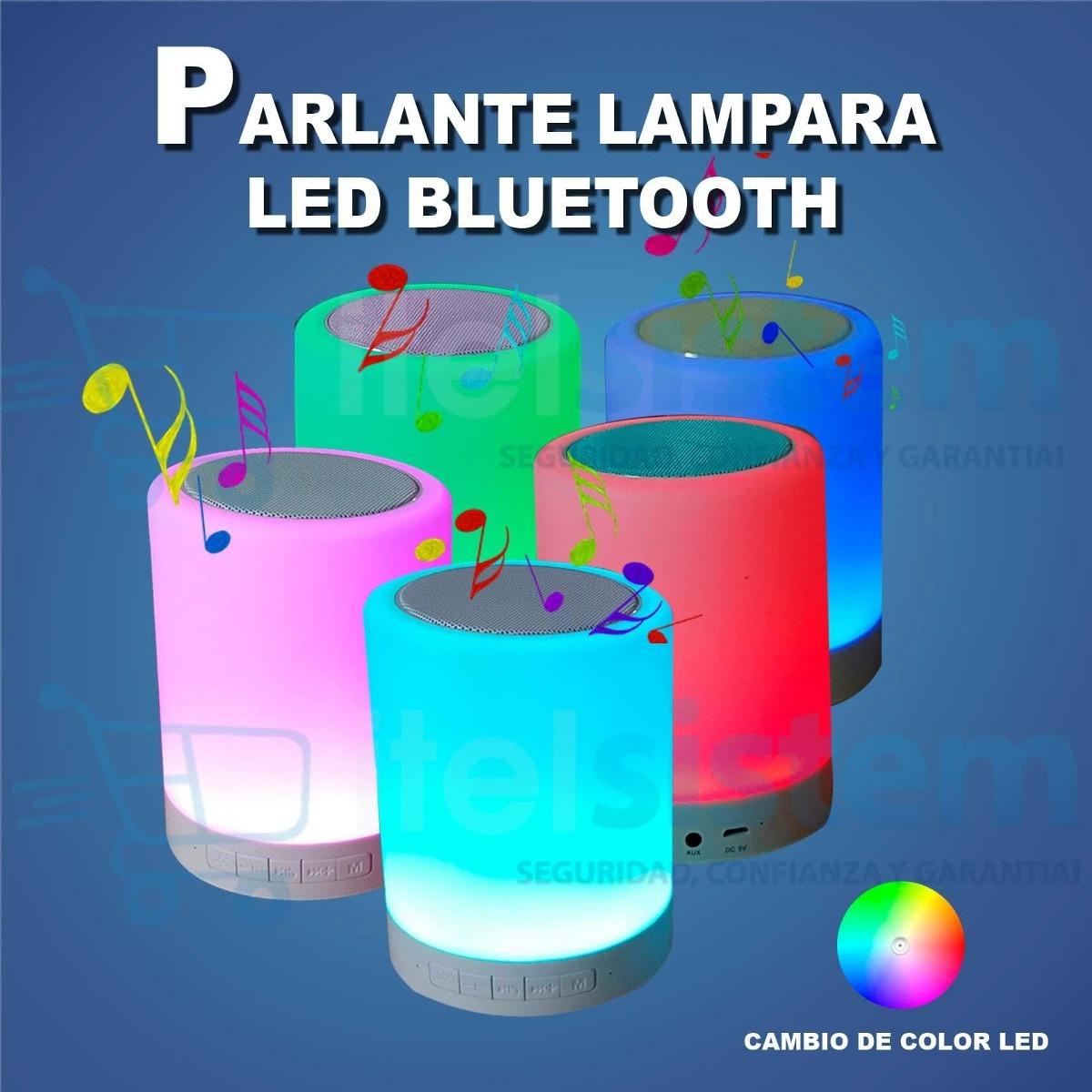 Parlante lampara led bluetooth altavoz 7 colores for Lampara altavoz bluetooth