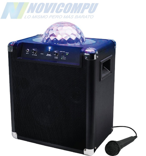 parlante led, bluetooth, usb, karaoke, recargable, 120 watt