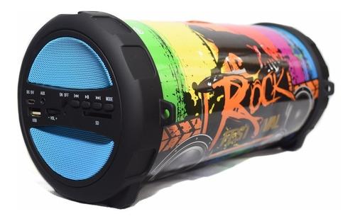parlante lixur bluetooth portatil sd radio fm