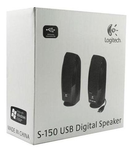 parlante logitech s150 (2.0) 1.2 v rms- 2.4 v pct usb