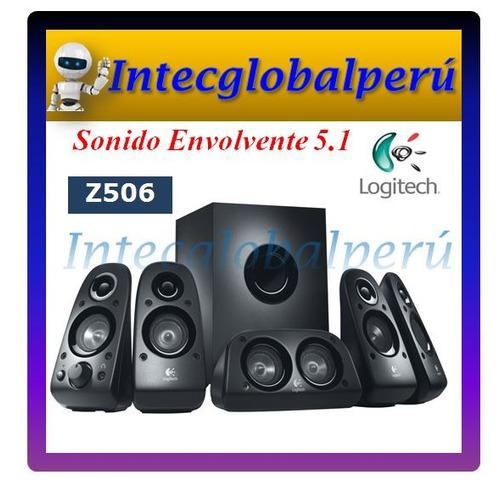parlante logitech z506 sonido 5.1 potencia: 75 watts rms