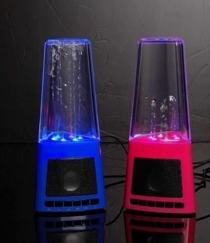 parlante multimedia con agua y luces sicodelicas cafini fm