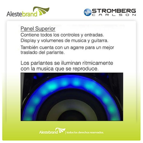 parlante multireproductor stromberg carlson mega m-10