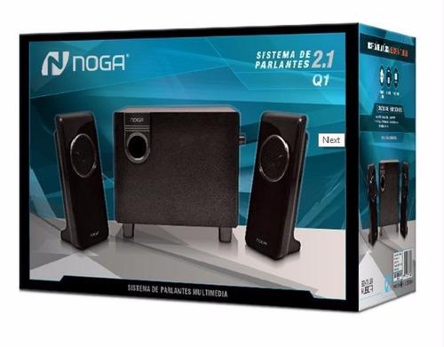 parlante noganet q1 sistema de audio 2.1