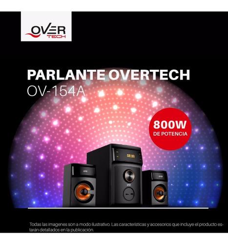 parlante overtech 2.1 ov-154a 800w subwoofer mp3 bluetooth