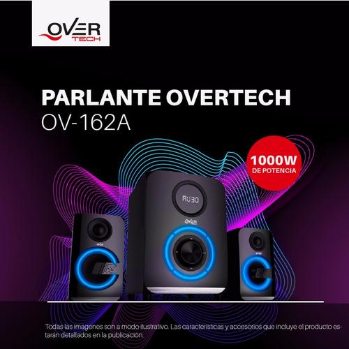 parlante overtech 2.1 ov-162a 1000w subwoofer mp3 bluetooth