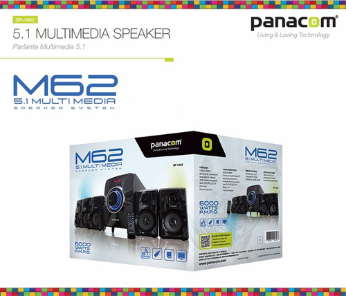 parlante panacom multimedia 5.1 m1662