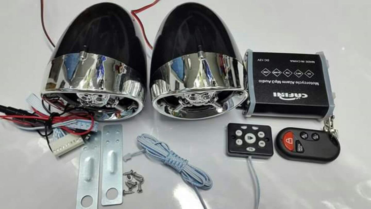 7adffb225a4 parlante para moto con alarma bluetooth usb sd radio fm. Cargando zoom.
