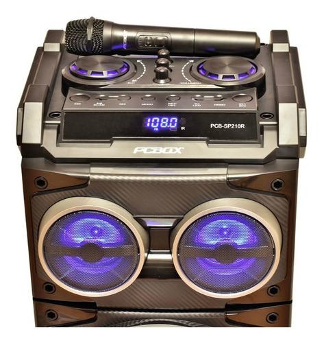 parlante pcbox sp-210r floyd dj con bateria bt x 2