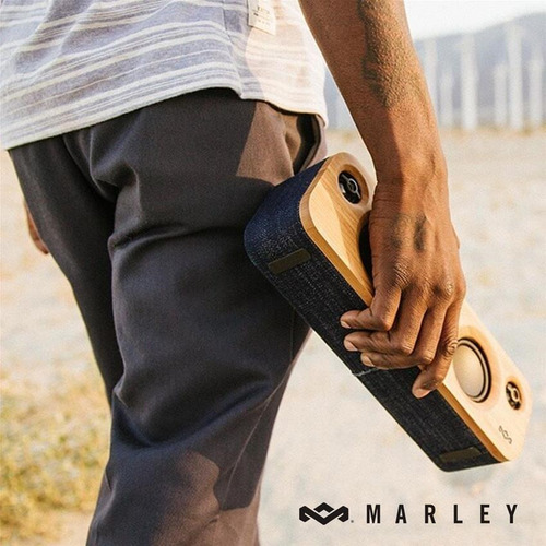 parlante portable bluetooth get together mini marley