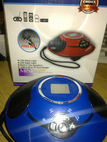 parlante portable fm mp3  -usb- trajeta- aux