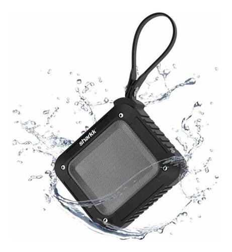 parlante portable sharkk ipx5 3w bluetooth negro