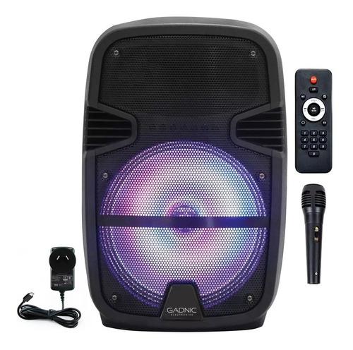 parlante portatil 2450wts bateria bluetooth microfono luces