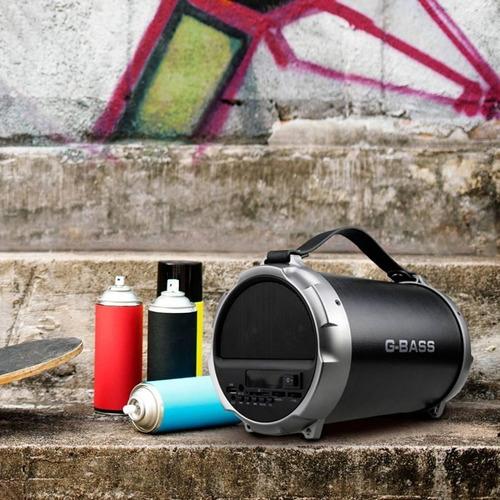 parlante portátil bazooka bluetooth master g + audífonos neg