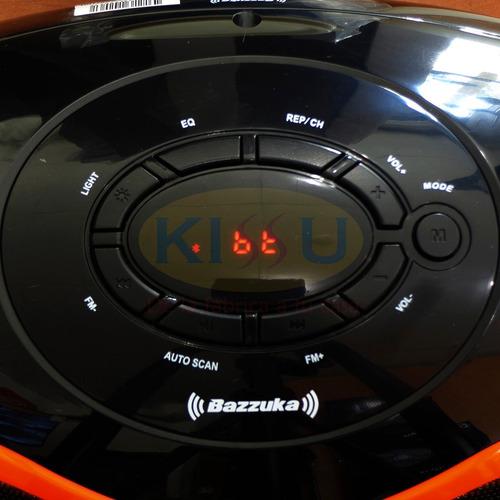 parlante portatil bazzuka 100w radio fm bluetooth bateria