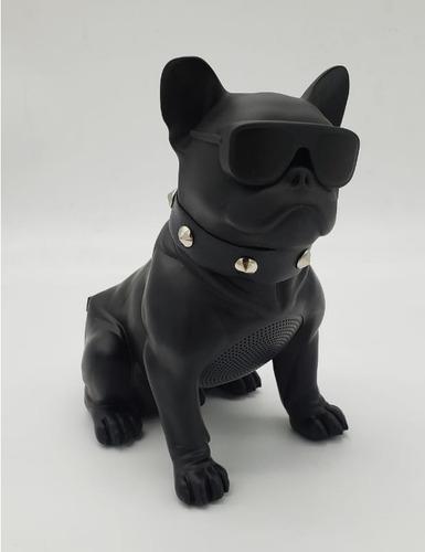 parlante portatil bluetooh perro bulldog negro*