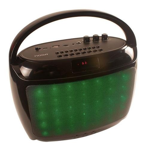 parlante portatil bluetooth 10w fm usb sd luz led aux 1210