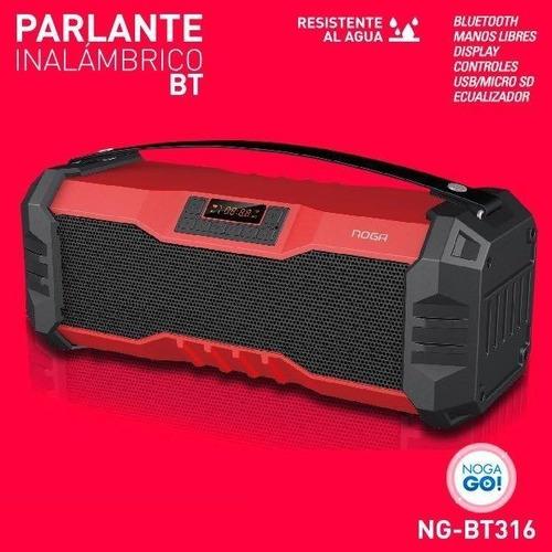 parlante portatil bluetooth 12w fm aux led usb 5v bt316