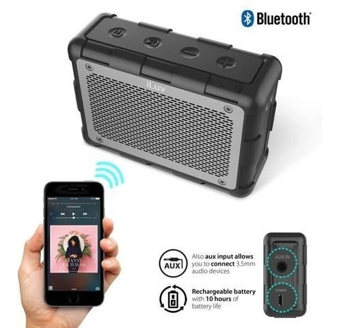 parlante portatil bluetooth acuático iluv impact level 2