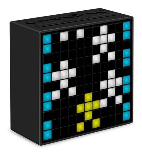 parlante portatil bluetooth divoom timebox led simil madera