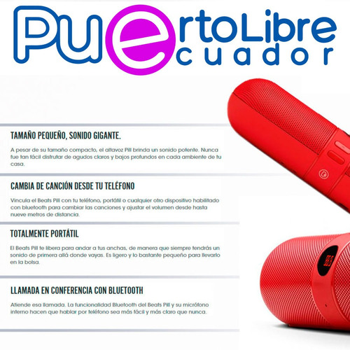 parlante portatil bluetooth - fm - usb - samsung iphone sony