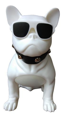 parlante portátil bluetooth forma de perro bull dog grande