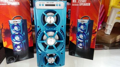 parlante portátil bluetooth ms-225bt ofertas bolw*