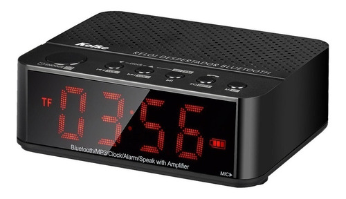 parlante portatil bluetooth radio fm reloj despertador mp3