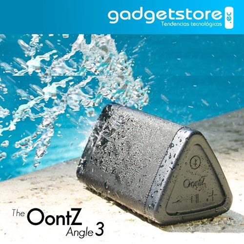 parlante portátil bluetooth resiste agua oontz angle 3 10w