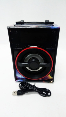 parlante portatil bluetooth sanrai 3´ usb fm luz led