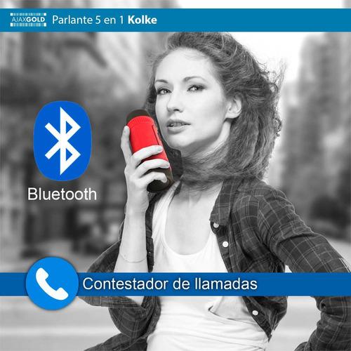 parlante portatil bluetooth usb 5 en 1 sd linterna powerbank