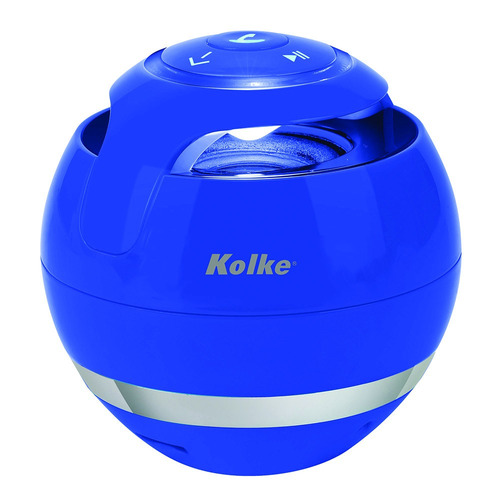 parlante portatil bluetooth usb kolke 6w luces usb sd card