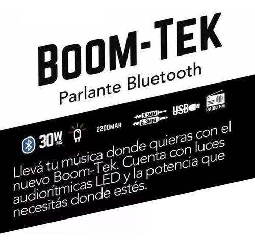 parlante portátil boom-tek stromberg bluetooth 30w palermo