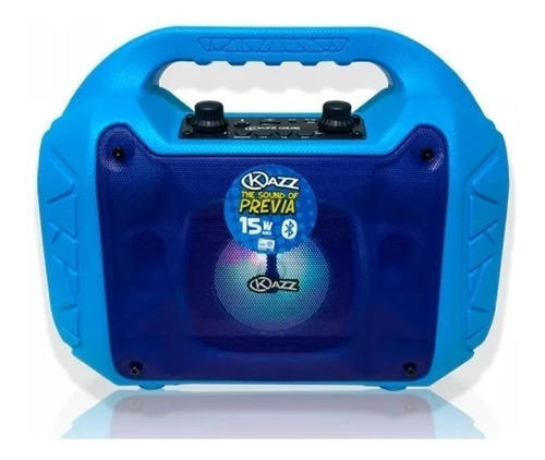 parlante portatil color strom kazz blue usb 15w