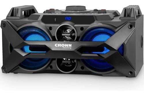 parlante portatil crown mustang 100w microfono