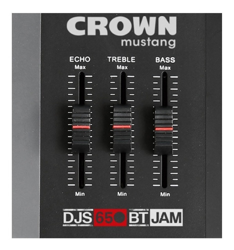 parlante portatil crown mustang djs-650bt alta perform 800w