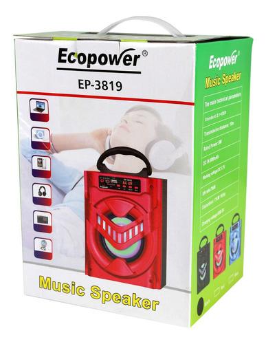 parlante portatil ecopower usb radio fm 5w nuevos!!!