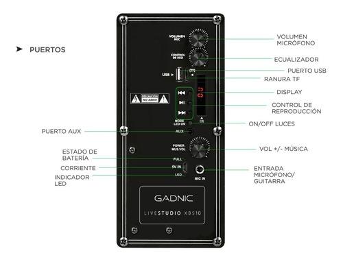 parlante portátil gadnic xbs10 nuevo libre garantía btooth