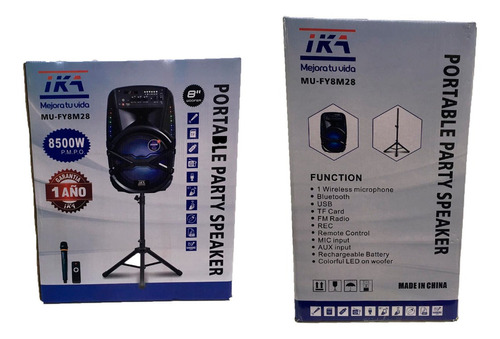 parlante portatil ika bluetooth microfono karaoke