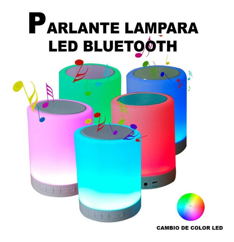 parlante portatil inalambrico bluetooth lámpara led altavoz