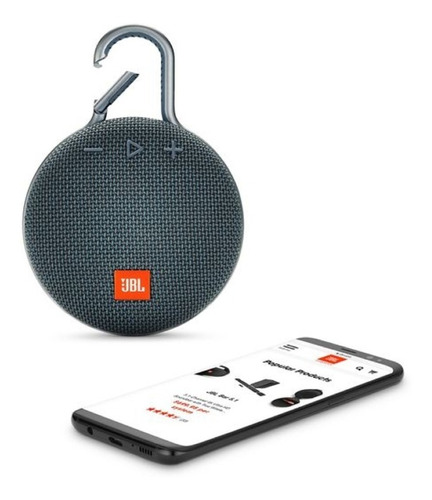 parlante portatil jbl clip 3 bluetooth waterproof blue