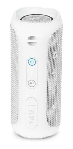 parlante portatil jbl flip 4 bluetooth 2x8w white