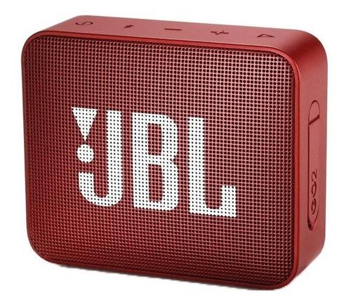 parlante portátil jbl go2 bluetooth red            zonatecno