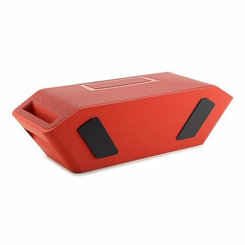 parlante  portátil jy-18 bluetooth- -nfc-radio-alarma -rojo