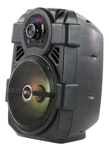 parlante portatil karaoke 8'' bluetooth fm usb bateria luces