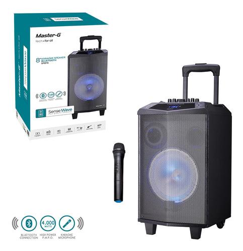 parlante portátil karaoke bluetooth master g + micrófono