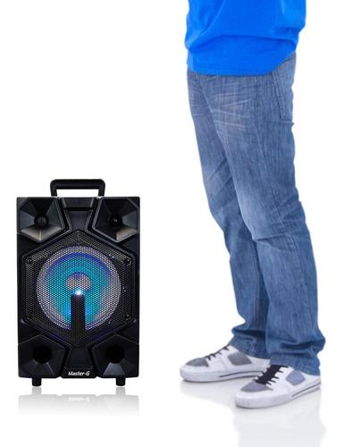 parlante portátil karaoke bluetooth master g + power bank 50