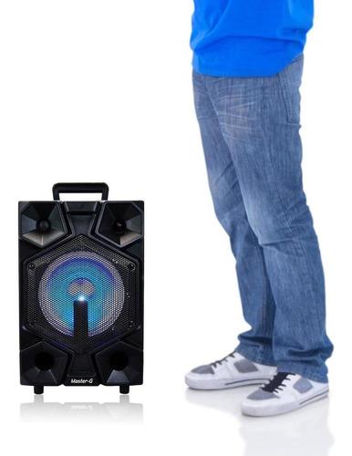 parlante portátil karaoke bluetooth master g + power bank ne