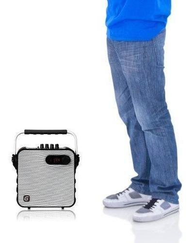 parlante portátil karaoke bluetooth master g t5w + micrófono